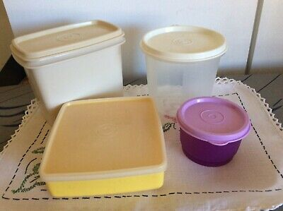 4 Small Tupperware Containers