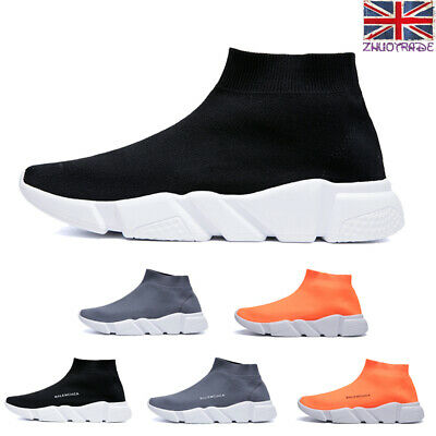 Sock Shoes Womens Runner Trainers Sneakers Ladies Knit Summer Sports Letter Gym