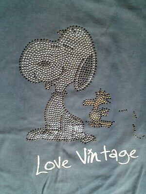 SNOOPY TOP T SHIRT Size 8  Size 10  Vintage design *Good Cond* Dorothy Perkins