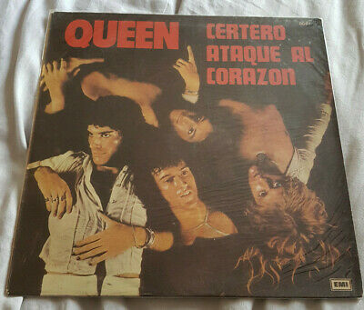 Queen Sheer Heart Attack Argentina 1st Press LP + Inner *VERY RARE*