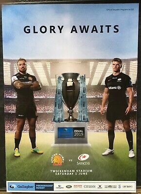 GLORY AWAITS EXETER CHIEFS v SARACENS PREMIERSHIP RUGBY FINAL 2019 MINT