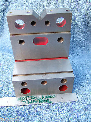 Angle Plate Stepped W/Vee Hard Usa Tooolmaker Inspection Grinding Mill Precise!