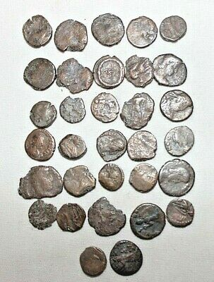 Lot of (32) Authentic Ancient Roman Coins Bronze Circa 300 AD Good Shape