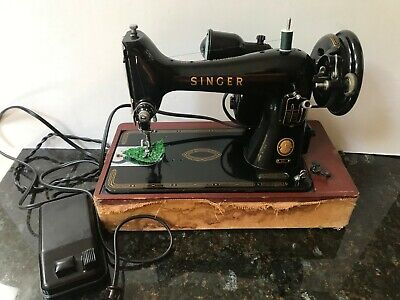 Vintage Singer Sewing Machine Model 99 With Pedal From 1955
