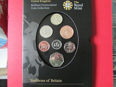 2008 United Kingdom Brilliant Uncirculated Coin Collection Emblems Of Britain.