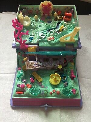 Vintage Bluebird Polly Pocket 1995 Sparkling Mermaid Adventure Book Compact ONLY