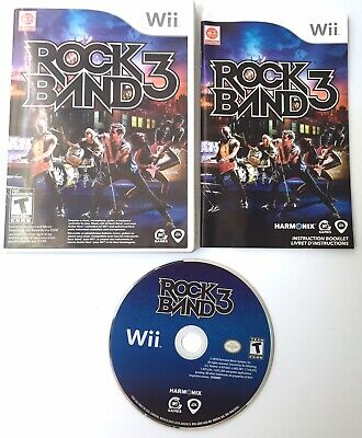 Rock Band 3 (Nintendo Wii, 2010) COMPLETE TESTED