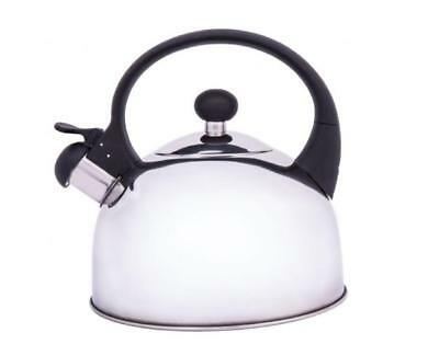 Grunwerg stainless steel stove top whistling kettle brand new 1.5L