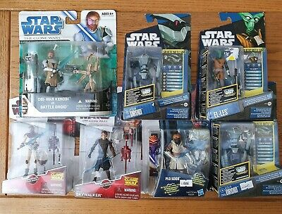New STAR WARS Hasbro the clone wars job lot of 7 Action Figures