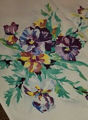 Vintage Lot of 3 Tablecloths - Pansies