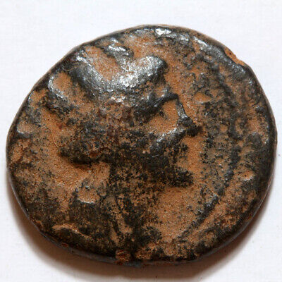 Ancient Greek Coin Ae Phoenicia Arados 215-214 Bc Prow Of Galley Tyche