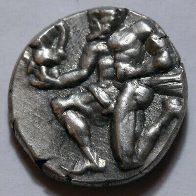Ancient Greek coin Circa 460 B.C Greek Silver Hemidrachm Thasos Thasion