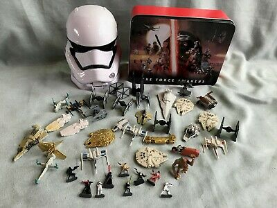 Star Wars Micro Machines Figures/Ships Bundle with tin and base including rare