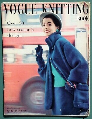 Vintage 50s VOGUE KNITTING BOOK No 45 original patterns women's sweaters