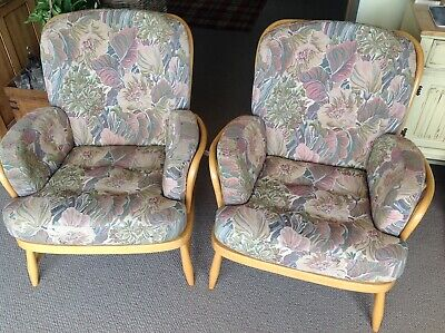 Ercol Jubilee blonde armchair - two available