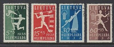 Lithuania 1938 Olympics Fund Set Used Cat £75
