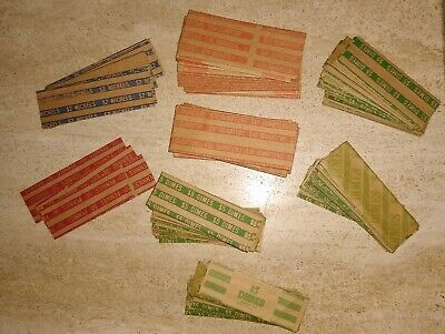New 229 Coin Wrappers Assorted Pennies Dimes Nickels Quarters Wrappers