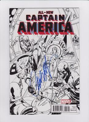 ALL NEW CAPTAIN AMERICA 1 VARIANT SIGNED BY J SCOTT CAMPBELL COMIKAZE EXPO