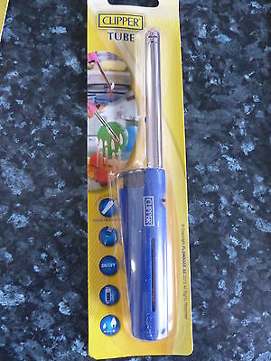 CLIPPER BBQ KITCHEN LIGHTER 'LONG STEM TUBE' GAS LIGHTER  Blue