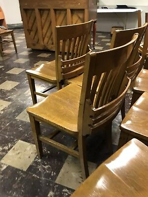 VINTAGE Oak Side Chair 1920's American Mission 1