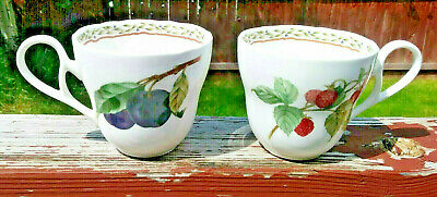 Noritake ROYAL ORCHARD 9416 Primachina Mug Berries Plums Disc. Set of 4 Cups