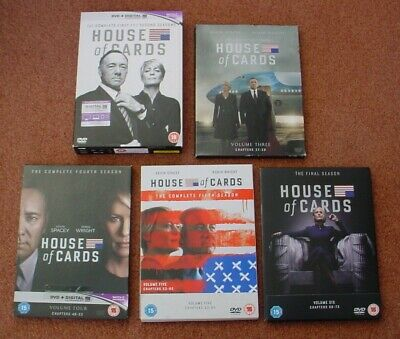 Complete Set Of All 6 Seasons Of Us Tv Series House Of Cards Pal Region 2 Dvd