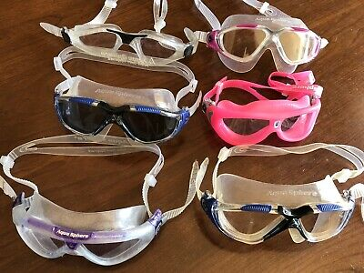 WOW!!! Lot Of 6 Aqua Sphere Swim Mask Goggles!!! .99 Cents And NO RESERVE!!!