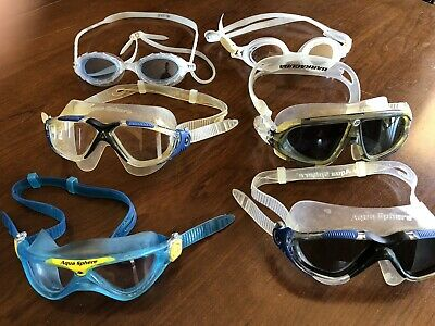 WOW!!! Lot Of 6 Aqua Sphere And Barracuda Swim Mask Goggles! .99 Cents And NR!!!