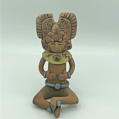 Pre-Columbian Statue Mayan Mexico Figurine Effigy Clay Figure Inca Aztec Mexican