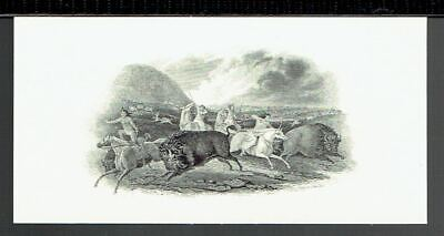 ABN 'Buffalo Hunt' Time-Life  19th Century Intaglio Reprint 1978