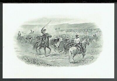 ABN 'The Roundup' Time-Life  19th Century Intaglio Reprint 1978
