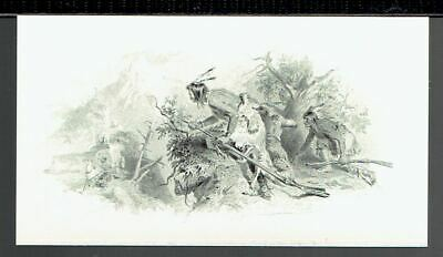 American Bank Note Co 'Ambush' Time-Life  19th Century Intaglio Reprint 1978