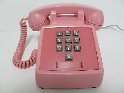 Antique Western Electric telephone 1500 touch tone 10 button in Pink