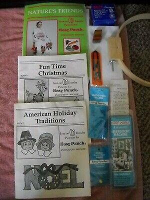 1985 Easy Punch Automatic Embroidery Punch needle Machine NIB + accessories