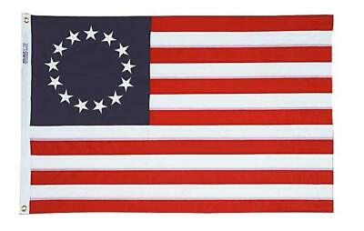 Betsy Ross 13 Star USA Flag 2' x 3' American Revolution Rough Tex New!