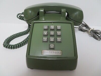 Antique Western Electric 1500 telephone 10 button touch tone rare Green