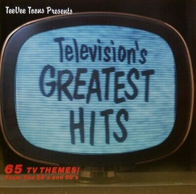 TELEVISIONS GREATEST HITS - 65 TV Themes From The 50's & 60's (1990 CD) MINT CON