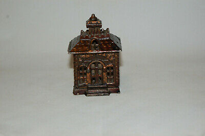 """Cast Iron """"State Bank"""" Tiny Building Still Bank"""