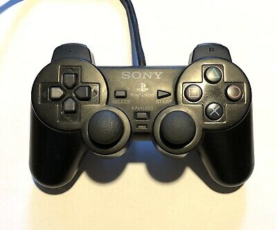 Official OEM Sony Playstation 2 Controller Dualshock 2 Black TESTED