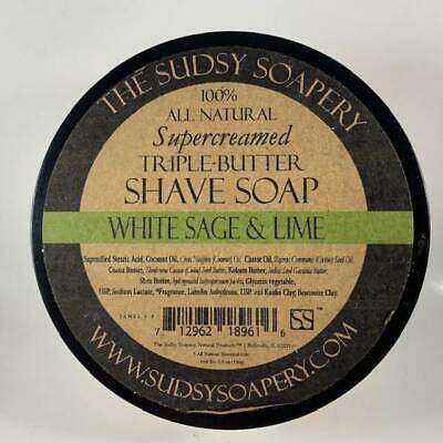 White Sage and Lime Shaving Soap - by the Sudsy Soapery (Pre-Owned)