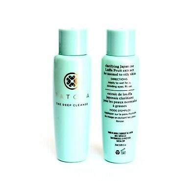 TATCHA The Deep Cleanse JAPANESE CLEANSING GEL Lot 2 x .85 Oz NEW FREE FAST SHIP