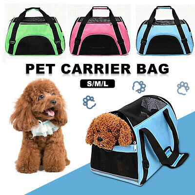 Portable Pet Carrier Soft Puppy Cat Dog Travel Outdoor Tote Bag Handbag S M L