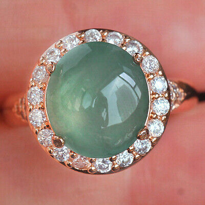 38.85Ct 100% Natural Grade A Green Oval Jadeite Ring Cab UCDZ50