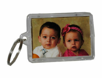 Lot of 24 Picture Frame Key Chains Clear Acrylic Photo Transparent Keychains