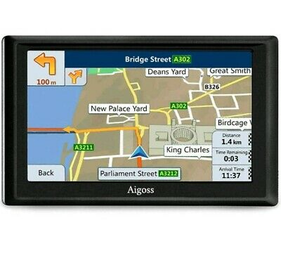 Aigoss SAT NAV, 7 Inch GPS Navigation for Car Truck with Bluetooth +...