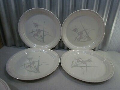set of 4 SPRING POND RETIRED NEAR MINT PYREX CORELLE 10-1/4 DINNER PLATE SET
