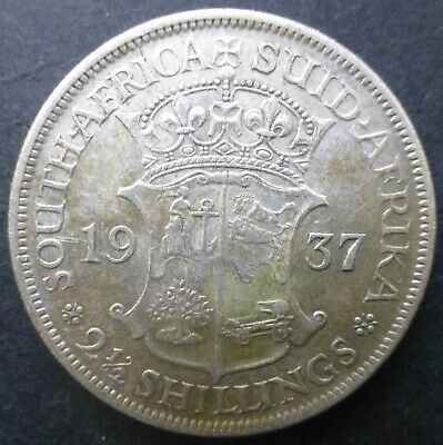 1937 South Africa 2½ Two and Half Shillings