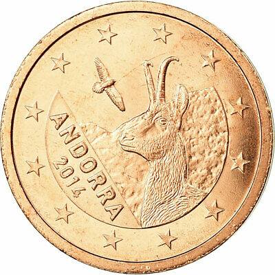 [#731393] Andorra, 2 Euro Cent, 2014, FDC, Copper Plated Steel