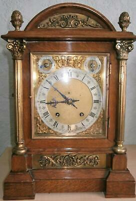 W&H Oak & Brass Striking Bracket Clock in Good Working Order