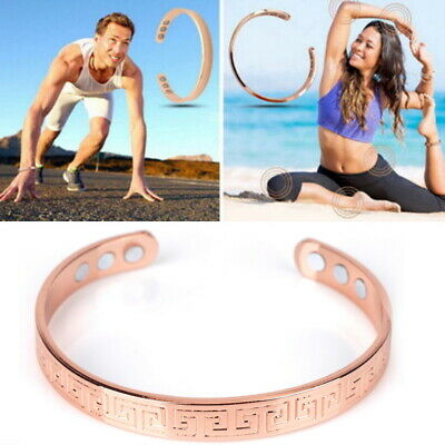 Mens Women Magnetic Therapy Bracelet Arthritis Pain Relief Copper Bangle Healing